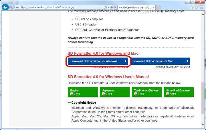 Raspberry pi sd formatter download